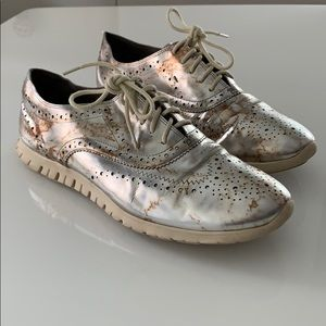 Cole Haan Zero Grand silver wing tip oxfords